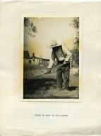 Cliff at Work in His Garden