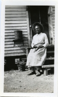 Minerva Williams on the Porch