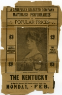 Newspaper Ad for the Kentucky Theater