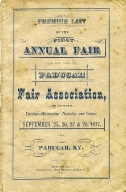 Premium List of the First Annual Fair of the Paducah Fair Association