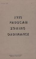 1971 Paducah Zoning Ordinance