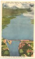Airview, TVA'S Kentucky Dam, Navigation Lock, and Beautiful Kentucky Lake, near Paducah, Western Kentucky, The Dam is 206 Feet High and 8,650 Feet Long