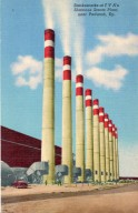 Smokestacks at TVA's Shawnee Steam Plant, Near Paducah, Ky.