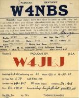 Ham radio operator W4NBS in Paducah (KY)