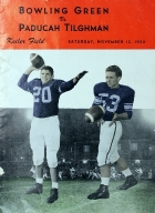 Paducah Tilghman Football Program - November 12 1955