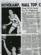 1969 newspaper article on Heath High School player elected to All-McCracken County basketball team