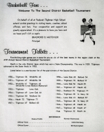 Page from 1969 district basketball tournament program