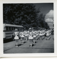 Heath High School drill corps marches at Fulton (KY) Banana Festival