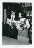 Students Robert Thompson and Johanna Comisak