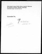 Watkins Funeral Home Records Book 10