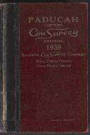 Paducah Kentucky Con Survey Directory 1939 Baldwin Con Survey Company, Billings Printing Company, Young Printing Company