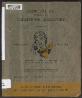 Southern Bell Telephone and Telegraph Co. Telephone Directory for Paducah, KY,and Symsonia, KY, October 1955