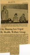 Plea for Municipal Housing Ordinance