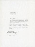 Mayor Bob Cherry Congratulatory Letter to W.G. Harvey