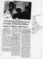 Groups of Blacks Denied Entry to Klan Rally