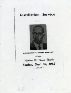 W.G. Harvey Invitation