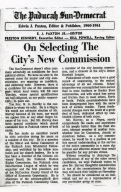 Editorial Advocating W.G. Harvey Election as City Commissioner
