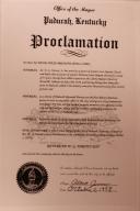 Rev. W.G. Harvey Day Proclamation
