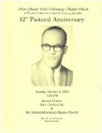 W. G. Harvey 42nd Pastoral Anniversary Program