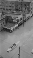 Looking down on Broadway in Paducah (KY) during 1937 flood
