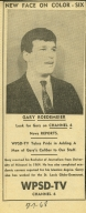 1968 newspaper ad introducing Gary Roedemeier