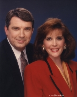 News anchors Ron Beaton and Johnette Worak
