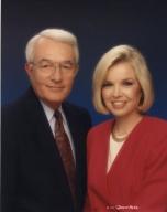 News vice-president/anchor Tom Butler and news anchor Amy Watson