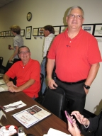 "Craig Sturm, Garry Wheatley and Mark Hall at ""old employees' luncheon"""