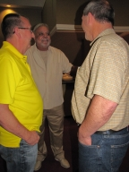 "Craig Sturm, Grant Hughes and Dan Wilson at ""Old Timer's luncheon"""