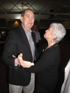 "Dan Steele and Janice Crosno at ""Old Timer's luncheon"""