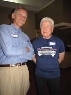 "George Cumbee and Kurt David Engehardt at ""Old Timer's luncheon"""