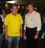 "Craig Sturm and Garry Wheatley at ""Old Timer's luncheon"""