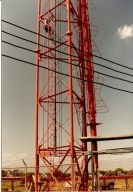 Transmission equipment at Monkey's Eyebrow in Ballard County (KY)