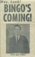 "Newspaper advertisement of start of ""Bingo"" show on WPSD"