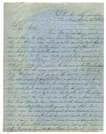 Sam House Letter, February 3, 1862