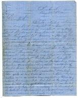 Sam House Letter, February 26, 1862