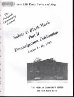 8th of August Emancipation Celebration 1984 Program
