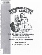 8th of August Emancipation Celebration 1989 Program