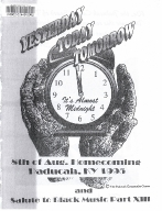 8th of August Emancipation Celebration 1995 Program