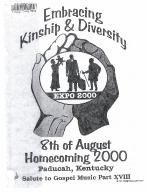 8th of August Emancipation Celebration 2000 Program