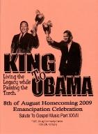8th of August Emancipation Celebration 2009 Program