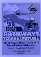 8th of August Emancipation Celebration 2010 Program
