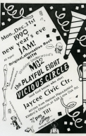 December 31st, 1990 Jaycee Civic Center Show Flyer