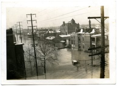 View of Lowertown during '37 flood.