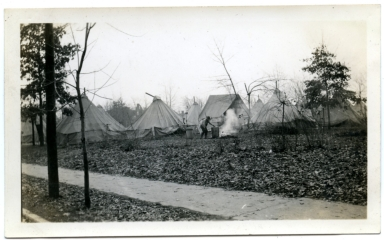 Tent city in Paducah during '37 flood.