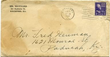 Envelope from Maynard to Neuman