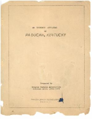 An Economic Appraisal of Paducah, Kentucky