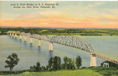 Irvin S. Cobb Bridge on U.S. Highway 45 Across the Ohio River, Paducah, KY