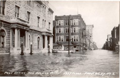 Post Office and Palmer Hotel, 1937 Flood, Paducah, KY No. 2