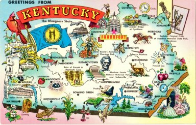 Greetings From Kentucky The Bluegrass State